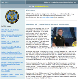 E-Newsletter screenshot